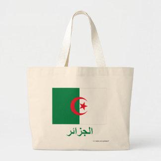 Algeria Flag with Name in Arabic Jumbo Tote Bag