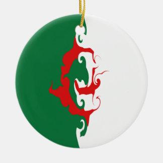 Algeria Gnarly Flag Ceramic Ornament