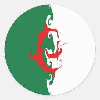 Algeria Gnarly Flag Sticker