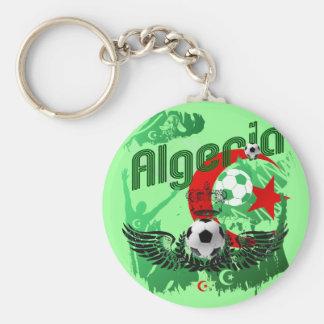 Algeria grunge art Football fans Algerie gifts Basic Round Button Keychain