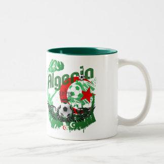 Algeria grunge art Football fans Algerie gifts Two-Tone Coffee Mug