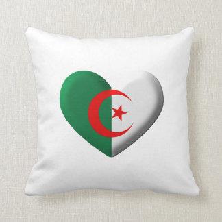 Algeria Heart Flag Throw Pillow