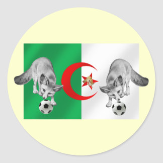 Algeria Les fennecs soccer lovers gifts Round Sticker