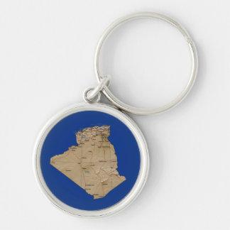 Algeria Map Keychain