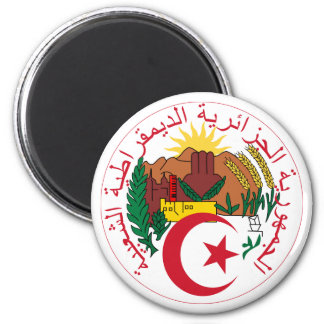 Algeria National Emblem 2 Inch Round Magnet