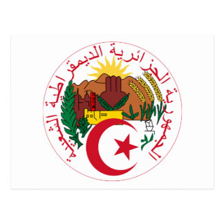 Algeria National Emblem Postcard