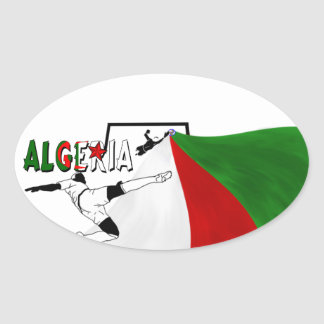 Algeria Oval Sticker