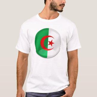 Algeria round flag with chrome like reflections T-Shirt