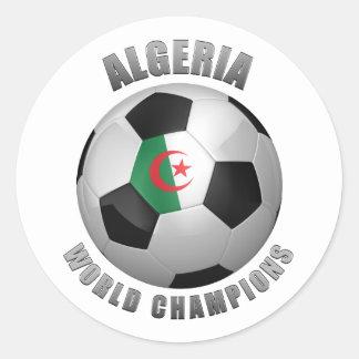 ALGERIA SOCCER CHAMPIONS ROUND STICKER