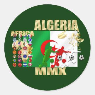 Algeria Soccer Football MMX Africa 2010 gifts Classic Round Sticker