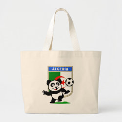 Jumbo Tote Bag with Algeria Football Panda design