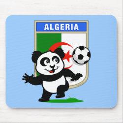 Mousepad with Algeria Football Panda design