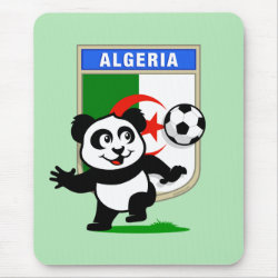 Mousepad with Algeria Football Panda design