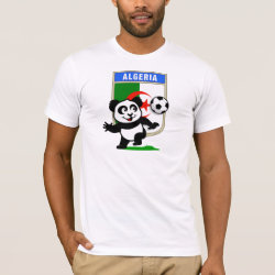 Men's Basic American Apparel T-Shirt with Algeria Football Panda design
