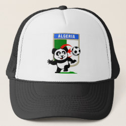 Trucker Hat with Algeria Football Panda design