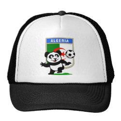 Trucker Hat with Algeria Football Panda design