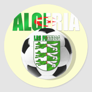 Algeria Soccer T-shirts and football fans gifts Round Sticker