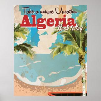 Algeria vacation Vintage Travel Poster. Poster