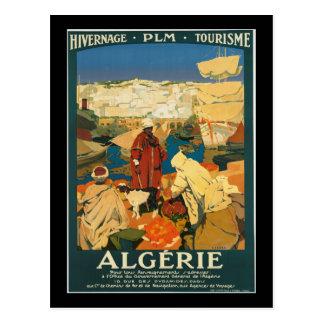 Algeria Vintage Travel Poster Postcard