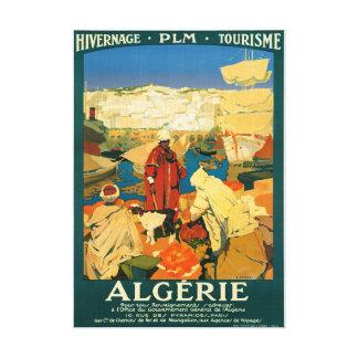 Algeria Vintage Travel Poster Restored Canvas Print