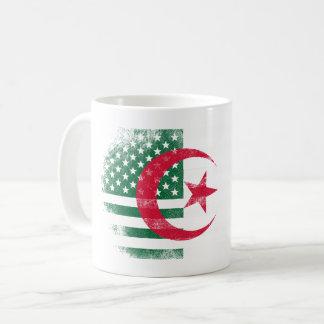 Algerian American Flag   Algeria and USA Design Coffee Mug