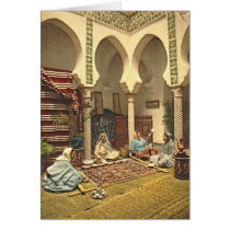 Algerian Carpet Makers 1899 Card