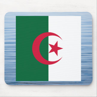 Algerian Flag Floating on water Mouse Pad