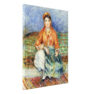 Algerian Girl by Pierre-Auguste Renoir Canvas Print