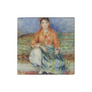 Algerian Girl by Pierre-Auguste Renoir Stone Magnet