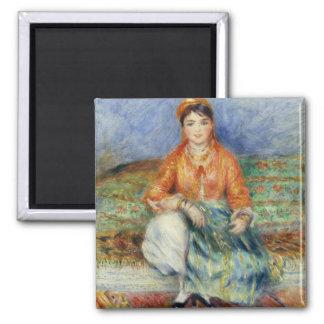 Algerian Girl by Pierre-Auguste Renoir 2 Inch Square Magnet
