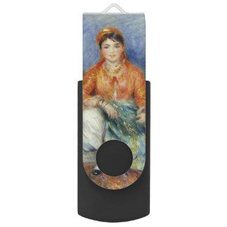 Algerian Girl by Pierre-Auguste Renoir Swivel USB 2.0 Flash Drive