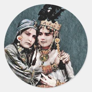 Algerian Gypsy Girls Classic Round Sticker