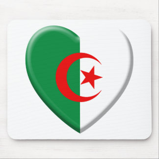 Algerian heart with flag Algeria Mouse Pad