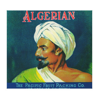 Algerian Orange Label Canvas Print