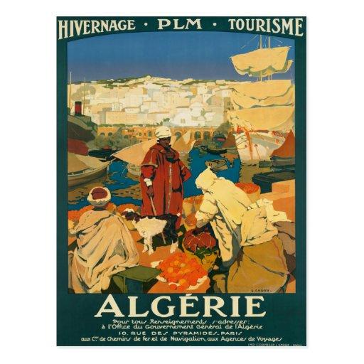 Algerie - poster del viaje del vintage de Argelia Postales