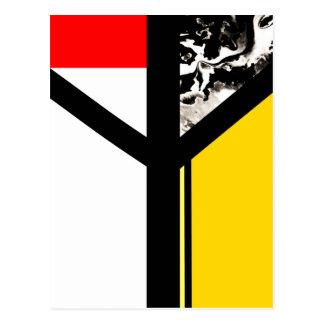 Algiz Modern Abstract Minimalist Rune Postcard