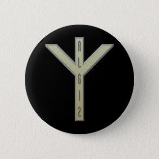Algiz Rune gold Pinback Button