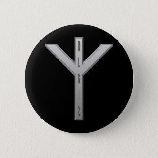 Algiz Rune grey Button