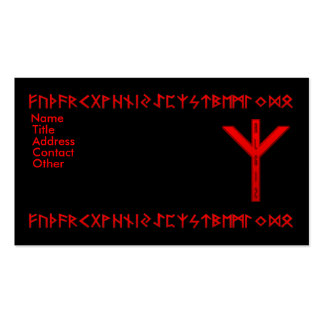 Algiz Rune red Business Card