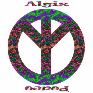 Algiz u ornamento de la paz adorno fotoescultura