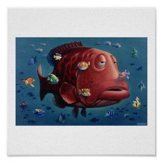 Algo a pescado póster