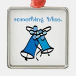 Algo azul ornamento para arbol de navidad