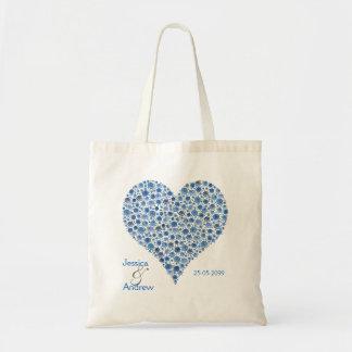 Algo bolso color de rosa azul del regalo del favor bolsa tela barata
