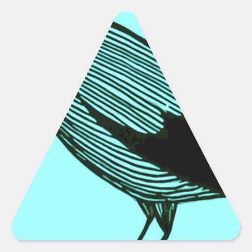 algo cantar alrededor pegatina triangular