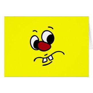 Algo cara sonriente Stinky gruñona Felicitaciones
