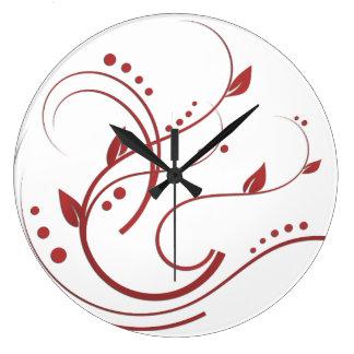 Algo colección roja reloj redondo grande
