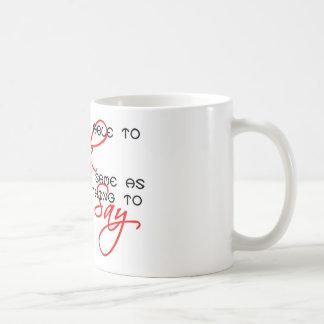Algo decir la copia taza básica blanca