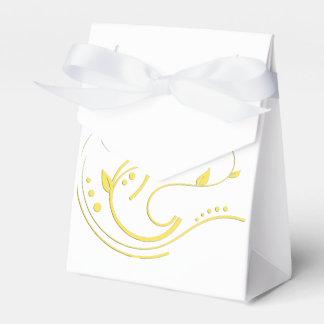Algo diseño del oro caja para regalo de boda