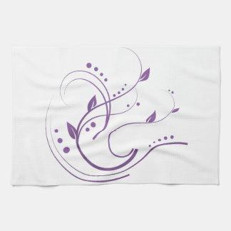 Algo diseño púrpura toallas de cocina