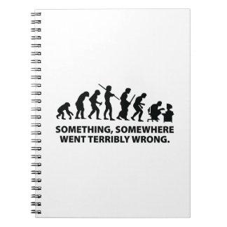 Algo, en alguna parte fue terrible mal cuadernos